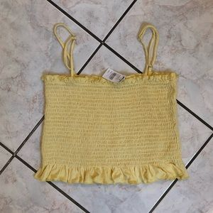 NWT Tilly's Smocking spaghetti Crop Top
